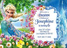 Frozen Invitation, Disney invitation, Frozen Birthday Party Frozen Birthday Invitations, Disney Invitations, Frozen Birthday Party, 4th Birthday, Birthday Cake, Birthday Parties, Birthday Ideas, Rsvp