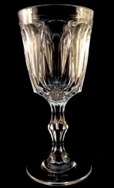 Popular pattern named after the first lady od EAPG Ruth Webb Lee. #Lee #Champagne Clear Flint Pattern Glass Sandwich NEG 1850s Polished Pontil EAPG #NewEnglandGlassCompany