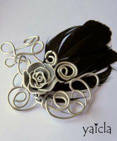 De mayor quiero ser Yaicla Bisutería artesana | Decorar en familia | DEF Deco: tocado plumas y alambre