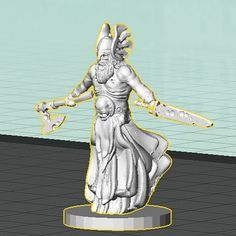 Draug Lord WIP #3drendering #3Dprinted #3Dprinting #vikings #undead #rpg #tabletop #fantasy #wargaming #18mm #Wayfarer #WayfarerTactics #norsemythology #gaming #PocketTactics #Sculptris #TinkerCAD #monsters #horror #miniature #OpenSource by dutchmogul