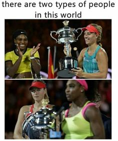 Two types of people in this world...Class vs Classless. Gracious vs Graceless. True Champion vs the winner. No surprise here.