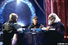 Christopher Judge, Richard Dean Anderson, and Michael Shanks (as Ma'chello)