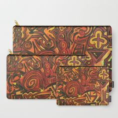 Orange Symbols Carry-All Pouch