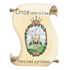 "Once upon a time - there was a room in dire need of a princess's touch. Luckily - these delightful decals comes to the rescue. With a beautiful castle - crown and the familiar storybook beginning - these wall decals are a fun way to turn any bedroom or playroom into a palace worthy of fairytales. Personalization up to 12 characters available. Care: Wipe with Damp Cloth Assembly Required.  Small: 20"" x 25""  Large: 24"" x 30.5"""