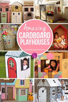 With the summer months stretching out ahead of us you might be wondering what on earth you're going to do to keep the kids entertained, especially if it gets too hot to be outside. If you've got a few cardboard boxes in the corner of the garage and a few tools check out this collection of cardboard playhouses kids will love – and be inspired to make one for your own children!