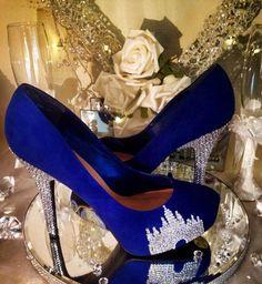 crystal disney castle heels unique wedding shoes by on Etsy ww. - W Inspo - Schuhe Unique Wedding Shoes, Designer Wedding Shoes, Blue Wedding Shoes, Trendy Wedding, Wedding Accessories, Disney Heels, Quinceanera Shoes, Quinceanera Ideas, Prom Heels