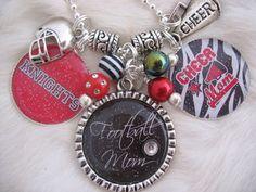 Cheer Mom Jewelry | FOOTBALL Mom, CHEER, Soccer, Baseball, SPORTS Mom Zebra Print Keychain ...