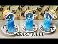 How to make amazing cup waterfall fountain show piece very easy Diy Waterfall, Waterfall Fountain, Ocean Crafts, Water Crafts, Buzzfeed Gifts, Glue Gun Projects, Cup And Saucer Crafts, Teacup Flowers, Floating Tea Cup