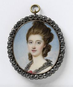 Richard Cosway, Portrait of an Unknown Woman, c.1775