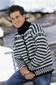 Another cool sweater. Knitting Projects, Knitting Patterns, Cool Sweaters, Knitwear, Knit Crochet, Men Sweater, Inspiration, Clothes, Tops