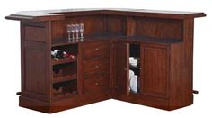 ECI Furniture Belvedere Return Bar in Distressed Walnut 0411-35-TBR - Bar Furniture by Dining Rooms Outlet