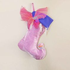 Fairy Wing Christmas Stocking by BelieveinMermaids on Etsy