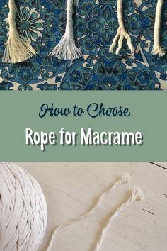 So this is a question I get asked A LOT. Macrame in its modern form is often done with a white or cream cotton rope. But which rope you ask?  Ok so there's basically all sorts to choose from. I mean, you can pretty much knot any length of cord, twine or rope. Off the top of my head here is
