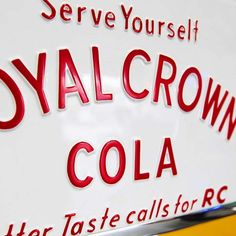 Royal Crown Cola Machine from The Games Room Company's selection of Vintage Coca-Cola Bars Eclectic Games, Coke Machine, Vintage Coke, Hard Pressed, Vending Machines, Crown Royal, Game Room, Bobs, Coca Cola