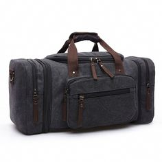 Kenox Oversized Canvas Travel Tote Luggage Weekend Duffel Bag * Be sure to check out this awesome product.