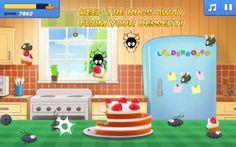 Hungry Bugs - This is a fun, simple little arcade game with great cartoon graphics that kids are sure to enjoy. The concept behind this fun time-waster is simple: you've prepared a selection of cakes, cookies, and candies and your kitchen is overrun with bugs trying to take a piece for themselves. Tap the bugs that approach your cake to scare them off or squish them out of the way and unlock the next level with a different cake or other goodie. Click the image for our full review.