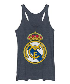 Navy Heather Real Madrid Dirty Core Crest Tank - Women