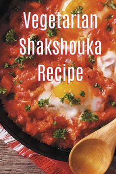 North African Vegetarian Shakshouka Recipe - a simple easy and tasty veggie dinner dish Veggie Dinner Recipes, Vegetarian Recipes Easy, Syn Free Breakfast, Slimming World Recipes, Dinner Dishes, Budget Meals, Beautiful Space, Family Life, Easy Meals