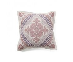 Embroidered Baroque pillow...loving the regal pattern!