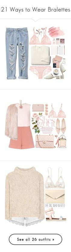 """""""21 Ways to Wear Bralettes"""" by polyvore-editorial ❤ liked on Polyvore featuring bralettes, waystowear, La Perla, Madewell, MANGO, Faber-Castell, Muji, Royce Leather, Band of Outsiders and Luxie"""