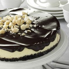 Chocolate Macadamia Cheesecake Recipe from Taste of Home.