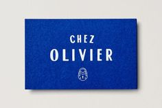 Chez Olivier by Swear Words, Australia. #blue #branding: