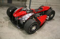 trike with a ferrari motor in it!!