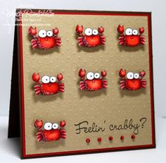 Feelin' Crabby?? all these little crabs on a kraft background are just too cute...