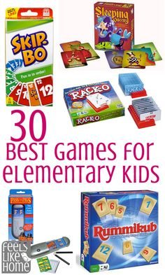 Children's Educational Games: Elementary school kids need to play games. They need to play games because games reinforce math and reading concepts, reasoning and analytical skills, and good sportsmanship. Not to mention . Learning Activities, Kids Learning, Activities For Kids, Articulation Activities, Phonics, Teaching Ideas, Fun Games, Games To Play, Board Games For Kids