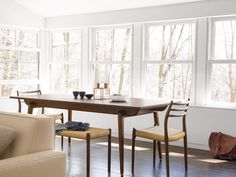 @normarchitects Odin Dining Extension Table with Møller Model 78 Side Chairs