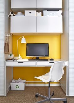 Kallax dr na shelving unit with 4 inserts white cabinets offices and lo - Bureau suspendu ikea ...