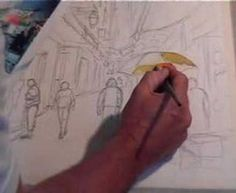 A demonstration painting figures french street pt 1 of 2