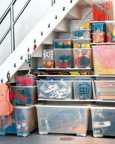 5 Basement Under Stairs Storage Ideas