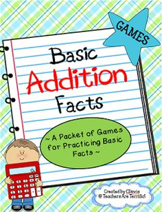 Oh MY ! What great games for practicing basic addition facts!