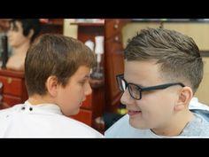 Trending Haircut for Teenage Boys Tutorial - YouTube