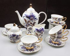 Baroque tea set. European elites would have drunk tea from India, sweetened with sugar from the Caribbean, in China from Canton. A truly global consumer culture.