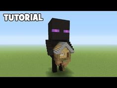Minecraft Tutorial: How To Make An Enderman House - Minecraft Servers View Minecraft Tree, Minecraft Statues, Minecraft Banner Designs, Minecraft Farm, Cute Minecraft Houses, Minecraft Plans, Minecraft House Designs, Minecraft Survival, Minecraft Decorations