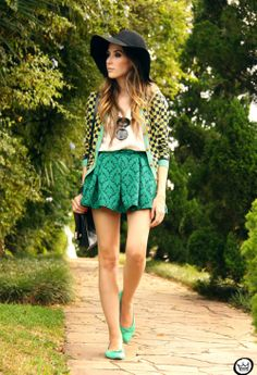 The Hottest Spring Fashion Trends - Fashion Diva Design love the skirt and green and turquoise
