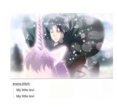 My new spirit animal. Levi riding a unicorn. || attack on titan || Shingeki no Kyojin || AOT || SNK || Levi Ackerman || Rivaille || Heichou ||