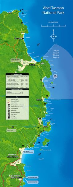 Abel Tasman National Park Map - NEW ZEALAND