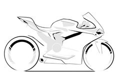 Official Ducati Design Centre sketch of the 1299 Panigale Car Drawing Pencil, Bike Drawing, Ducati 1299 Panigale, Ducati Superbike, Motorcycle Tattoos, Motorcycle Art, Biker Tattoos, Bike Sketch, Car Sketch