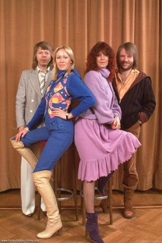 """Directly from England ABBA came to Germany(Bremen) to made promotion for both their new SP """"Take A Chance On Me"""" and """"ABBA The Movie"""". They performed in the TV show """"Auf laufenden Band"""".Anni-Frid's father was in the audience in the TV studio when ABBA performed their latest smash hit """"Take a Chance On Me"""".Several photo sessions were taken on different spots. 1978"""
