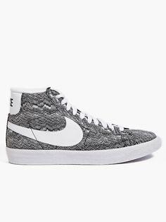online store 6b9eb 3bf63 Nike Mens Grey Blazer Mid PRM VNTG TXT QS Sneakers  oki-ni Adidas Shoes