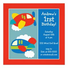 428 best airplane birthday party invitations images on pinterest first birthday party invitations boys airplanes filmwisefo