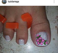 French Pedicure, Pedicure Nail Art, Toe Nail Art, Pretty Toe Nails, Pretty Toes, Cute Nails, Pedicure Designs, Toe Nail Designs, New Nail Art Design