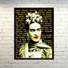 Frida Print Frida Poster Frida Kahlo art Frida by giftsforloved