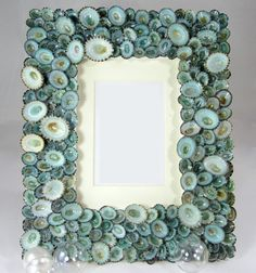 Beach Decor Seashell Frames  Nautical Shell by beachgrasscottage, $85.00