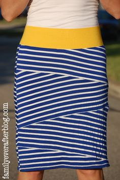 Sewing Tutorial: Bandage Style Knit Skirt