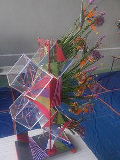 Épreuve u13 du Bp 2016 : Structure pour vernissage de l'exposition de Maya Hayuk.  .Cfa Blagnac (France).
