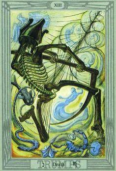 A Morte no Thoth Tarot de Crowley e Frieda Harris